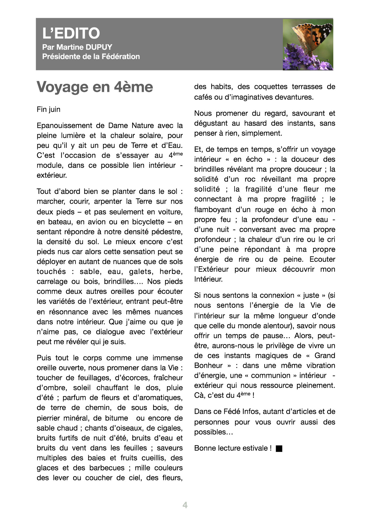 Edito du Fédé Infos N°33