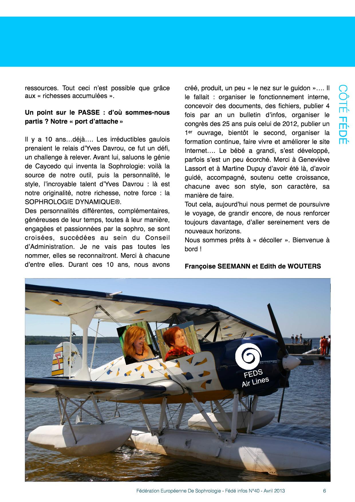 Edito page 2 Fédé Infos N°40